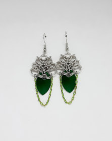Apparition Lady Noriko Chainmaille Earrings - Green
