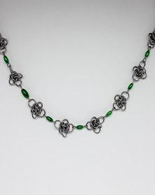 Apparition Dark Goddess Chainmaille Choker - Green