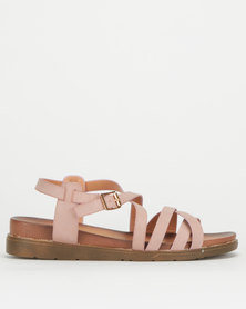 Utopia Strappy Chunky Sandals Taupe