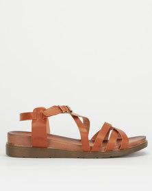 Utopia Strappy Chunky Sandals Tan
