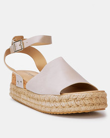 Utopia Cork Flatforms Stone