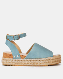 Utopia Cork Flatforms Blue