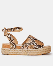 Utopia Cork Flatforms Snake