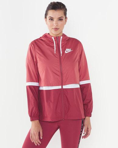 Nike W NSW Jacket Wvn Light Redwood Cedar/White