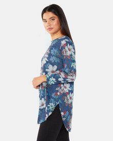 Gee Love It Orchid Tunic Navy