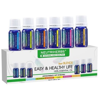 Neutriherbs Aromatherapy Essential Oils Gift Set - 6x10ml