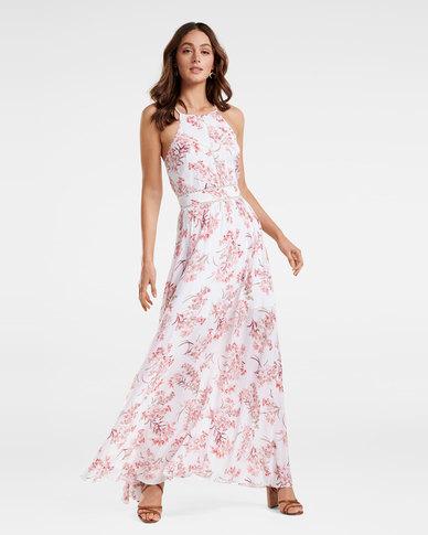 Evelyn Spliced Trim Maxi Dress