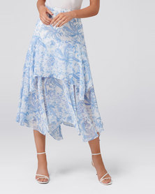 AVERY TIERED MIDI SKIRT