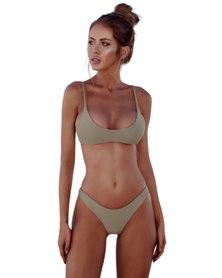 SunBird Swimwear Tropical Honeyguide Moss Green