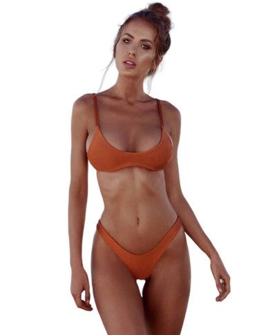 SunBird Swimwear Tropical Honeyguide Sand Brown