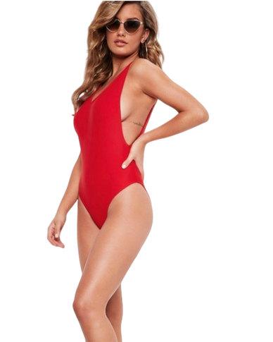 SunBird Swimwear Sunlight Wader Full Swimsuit Red