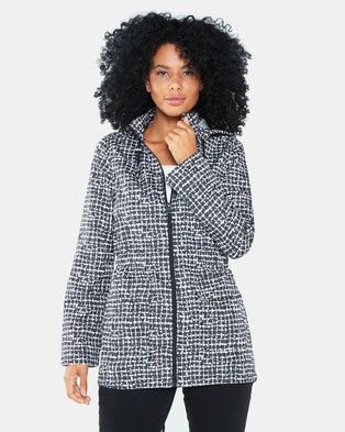 Brave Soul All Over Print Mac With Detachable Hood Black/White
