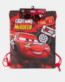 Character Brands Cars Bag and Sunnies Red