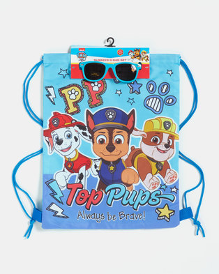 Character Brands Boys Paw Patrol Bag and Sunnies Blue