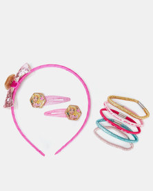 Character Brands Barbie Alice Band Sets Pink
