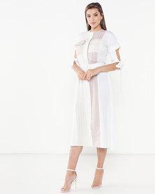 Judith Atelier Mae Combo Linen Dress Beige