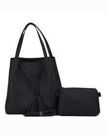 Valojusha shoulder bag with sling bag Black v2077