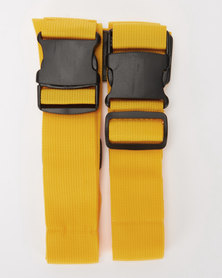 You & I Heavy Duty Luggage Strap  Yellow