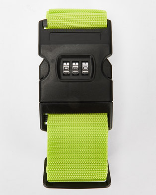 You & I Heavy Duty Luggage Strap With Lock Lime Green