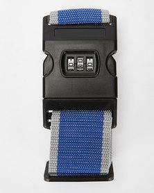 You & I Heavy Duty Luggage Strap With Lock Blue/Grey