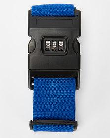 You & I Heavy Duty Luggage Strap With Lock Blue