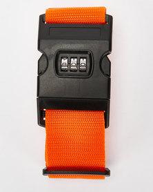 You & I Heavy Duty Luggage Strap With Lock Orange