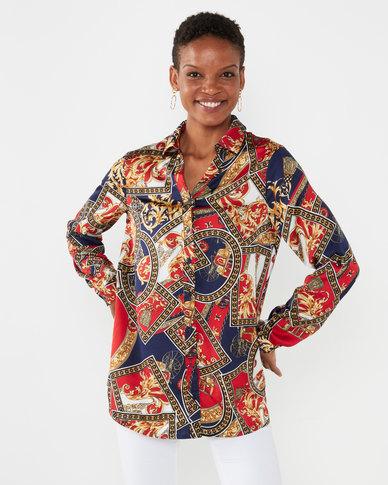 Queenspark Armada Print Woven Shirt Black
