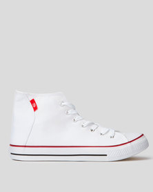 KG Hi Top Canvas Sneakers White