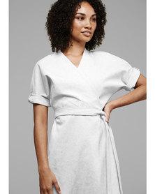MARETH & COLLEEN Bea Wrap Dress White