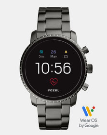 Fossil Gen 4 Smart Watch Explorist HR Smoke Stainless Steel