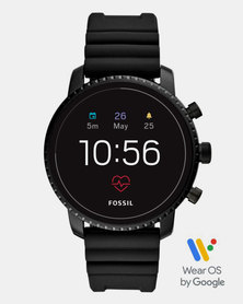 Fossil Gen 4 Smart Watch Explorist HR Black Silicone