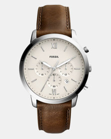 Fossil Neutro Leather Watch Brown