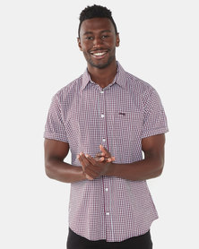 Jeep Short Sleeve Gingham Shirt Ruby