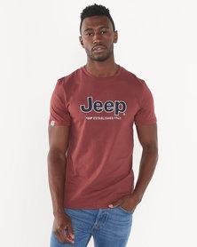 Jeep Applique Tee Rust