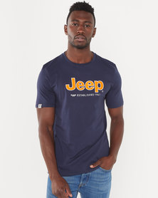 Jeep Applique Melange Tee Navy