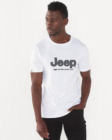 Jeep Applique Tee White