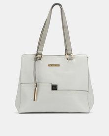 Blackcherry Bag Abstract Panel Shoulder Bag Grey
