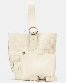 Blackcherry Bag Woven Handbag Beige
