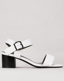 Pierre Cardin Block Heel Sandals White