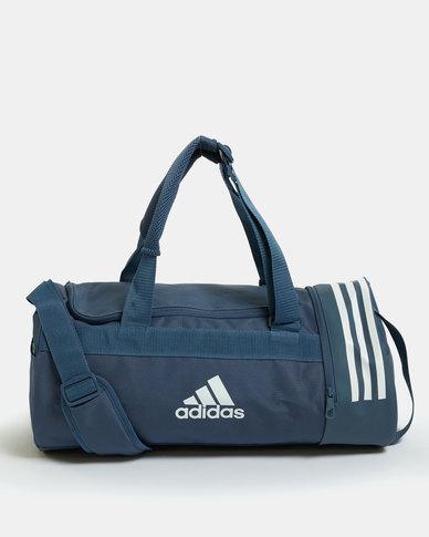 adidas Performance Convertable 3-Stripes Duffle Small Blue