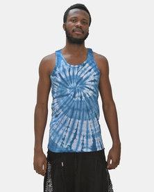 SKA Tie-Dye Vest Blue