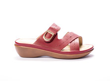 Viauno Slip-On Sandals Burgundy