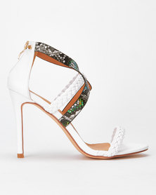 Miss Black Springs Weave Snake Combo Heel White