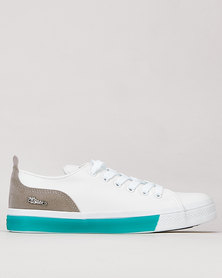 Miss Black Rhodes Contrast Col Sneaker White/Blue