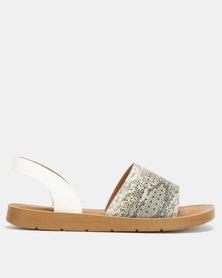 Butterfly Feet Alaska Sandals White