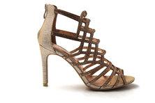 LaMara Paris Abby crystal embellished sandals rose gold