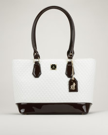 Polo Quilted Tote Bag White/Brown