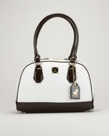 Polo Quilted Bowling Bag White/Brown