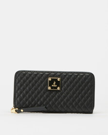 Polo Quilted Wallet Black