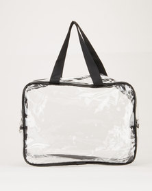 You & I Large Men's Toiletry Bag Clear